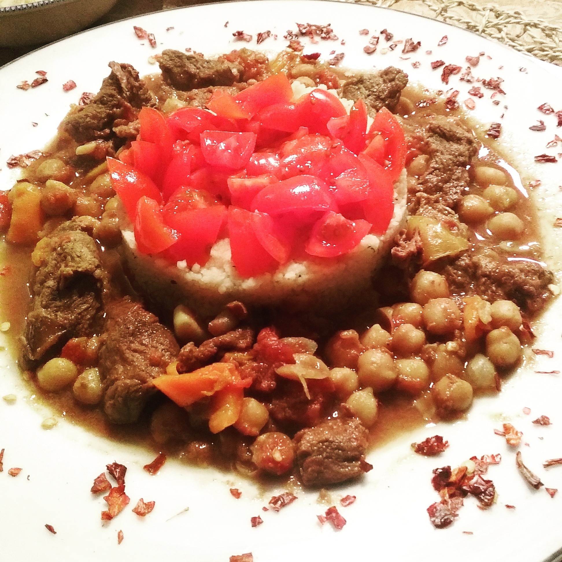 Moroccan slow cooked beef
