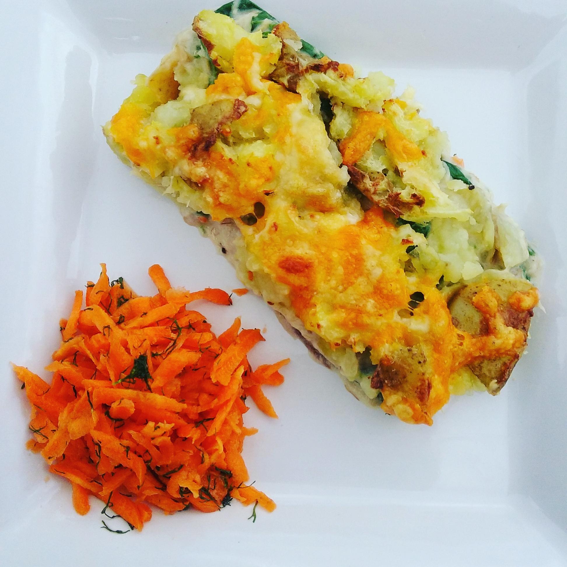mackerel and spinach pie