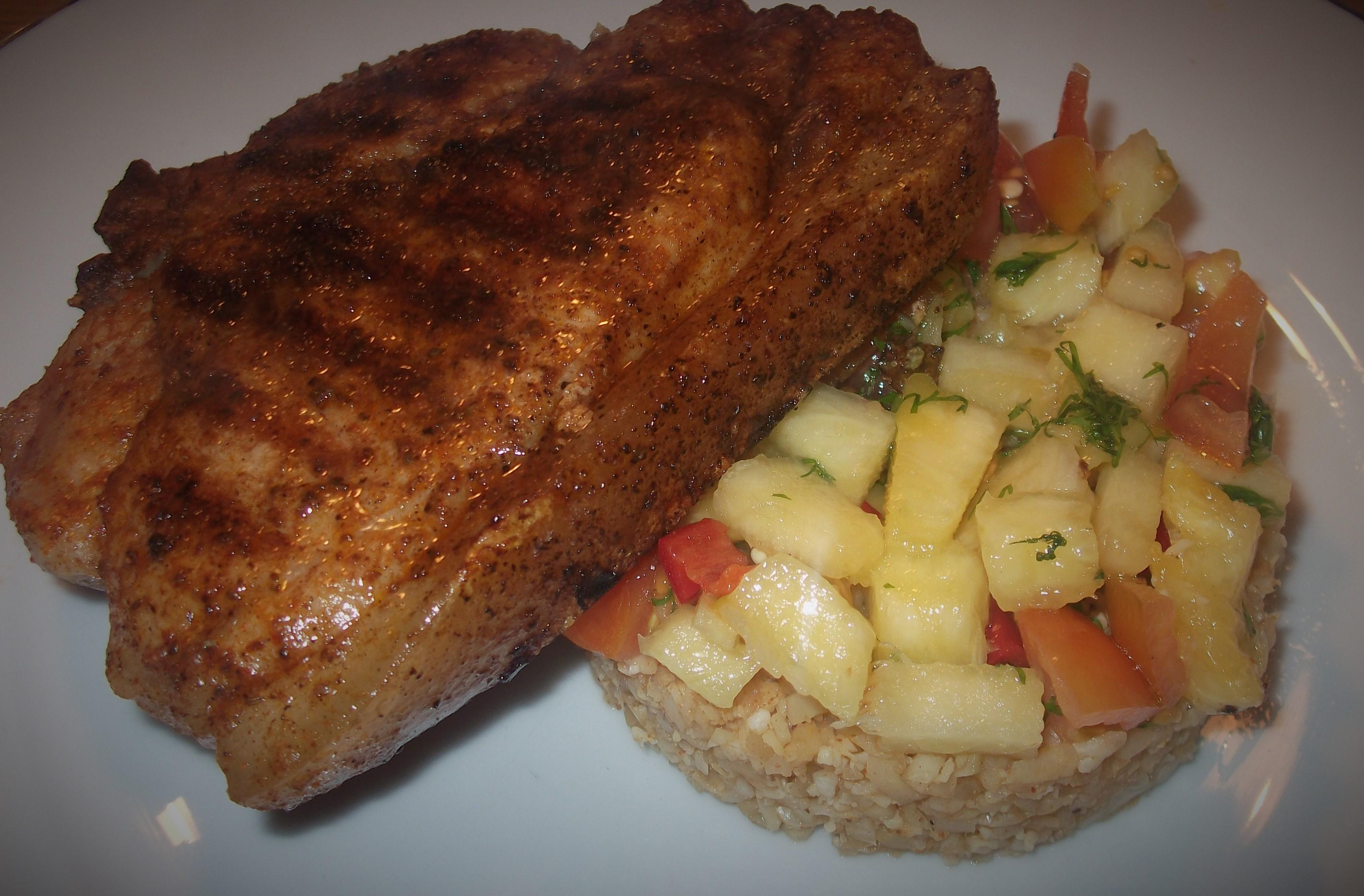 Cajun Pork with Pineapple Salsa £1.60 each !