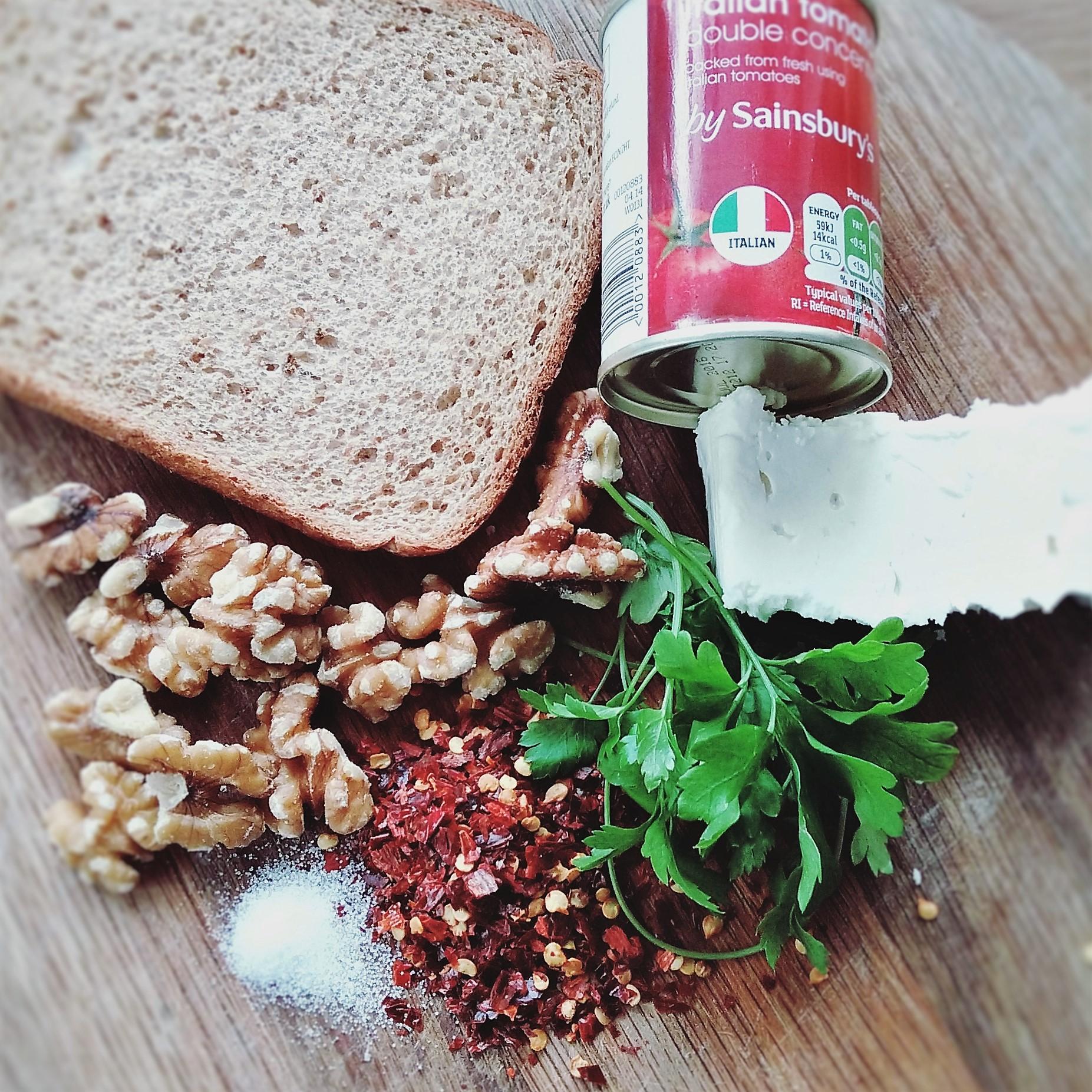 Feta and walnut pate