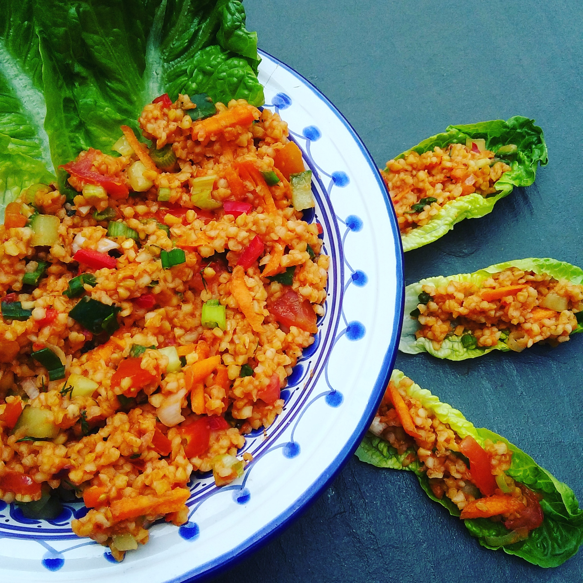 Delicious and healthy Turkish kisir