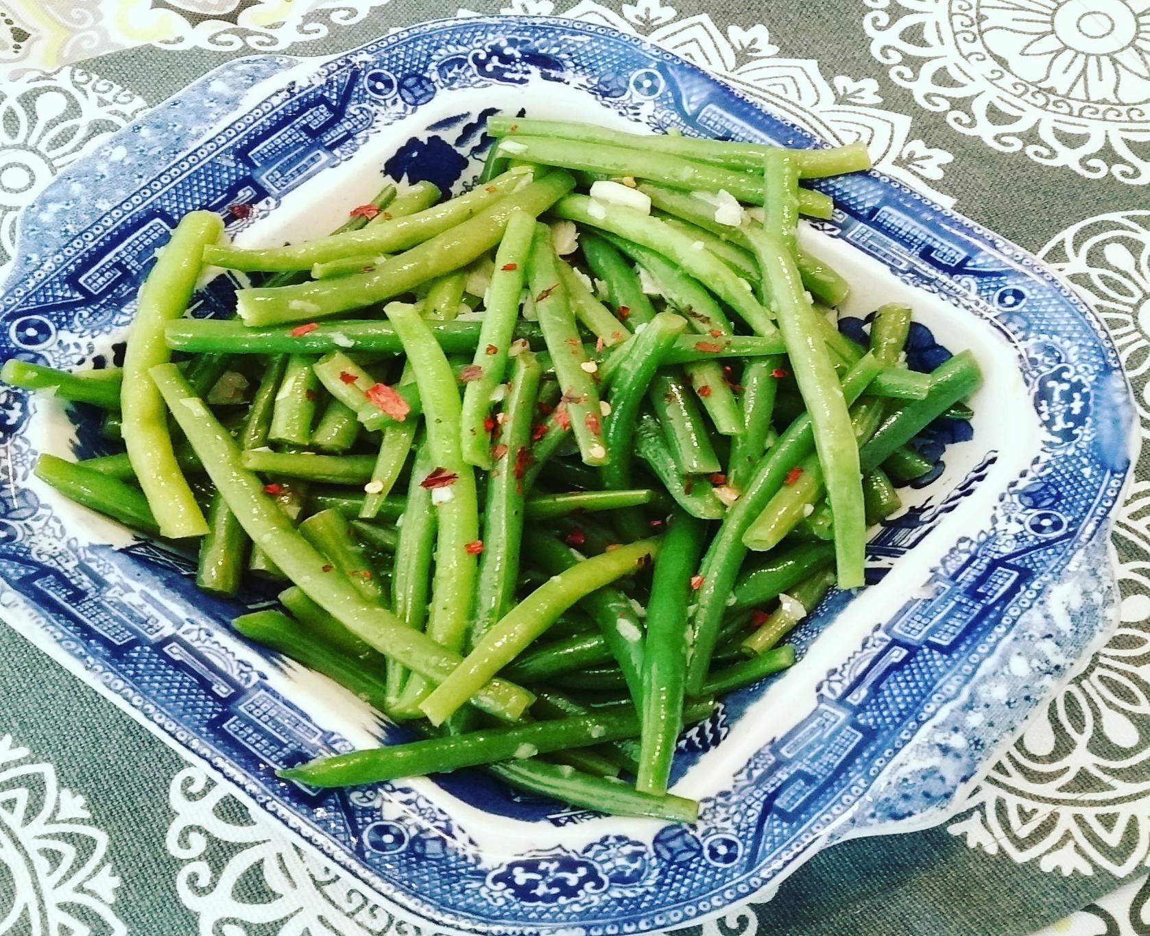 lemon and garlic green beans side dish
