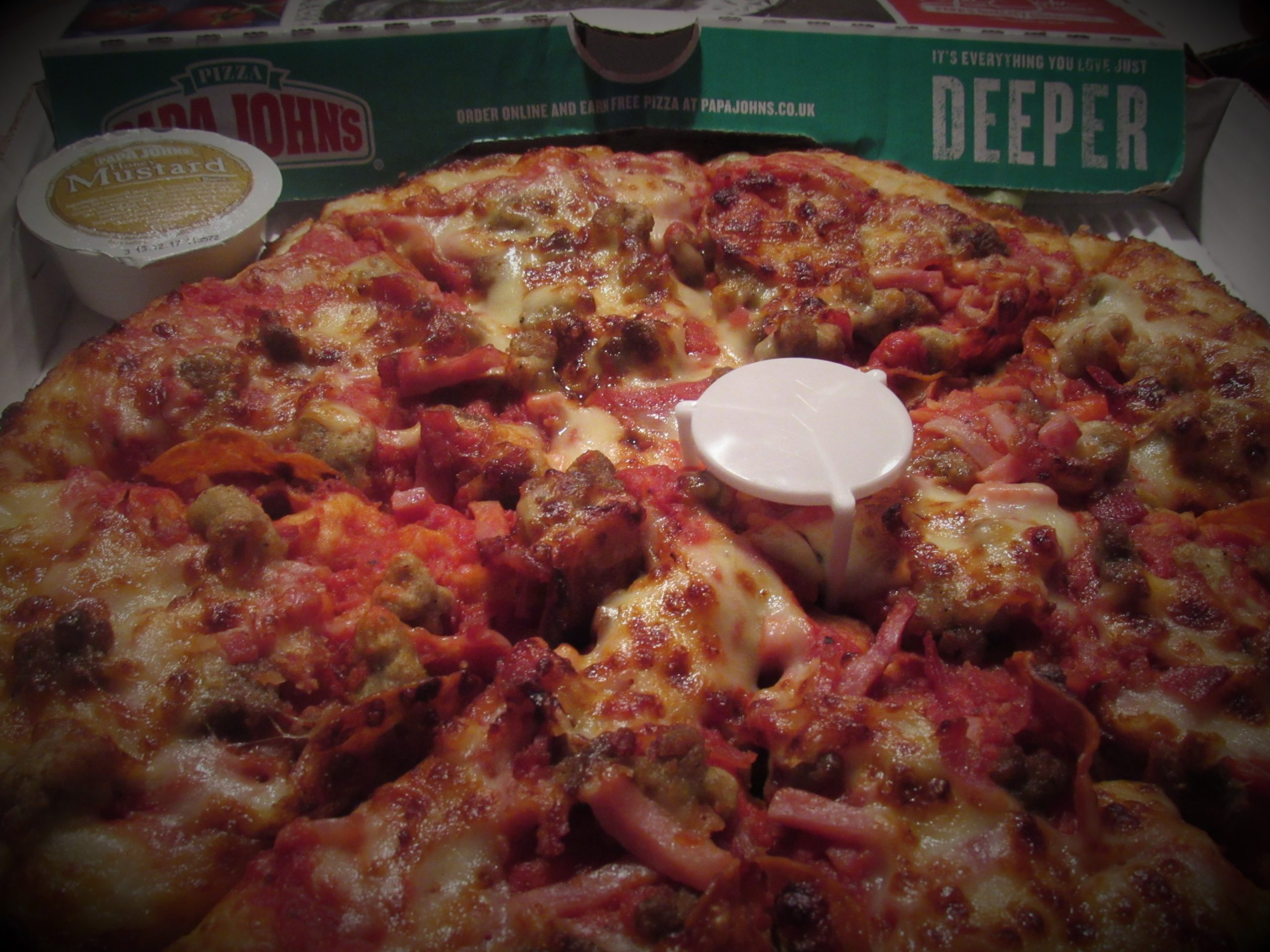 Papa Johns Deep Crust Pizza Review.