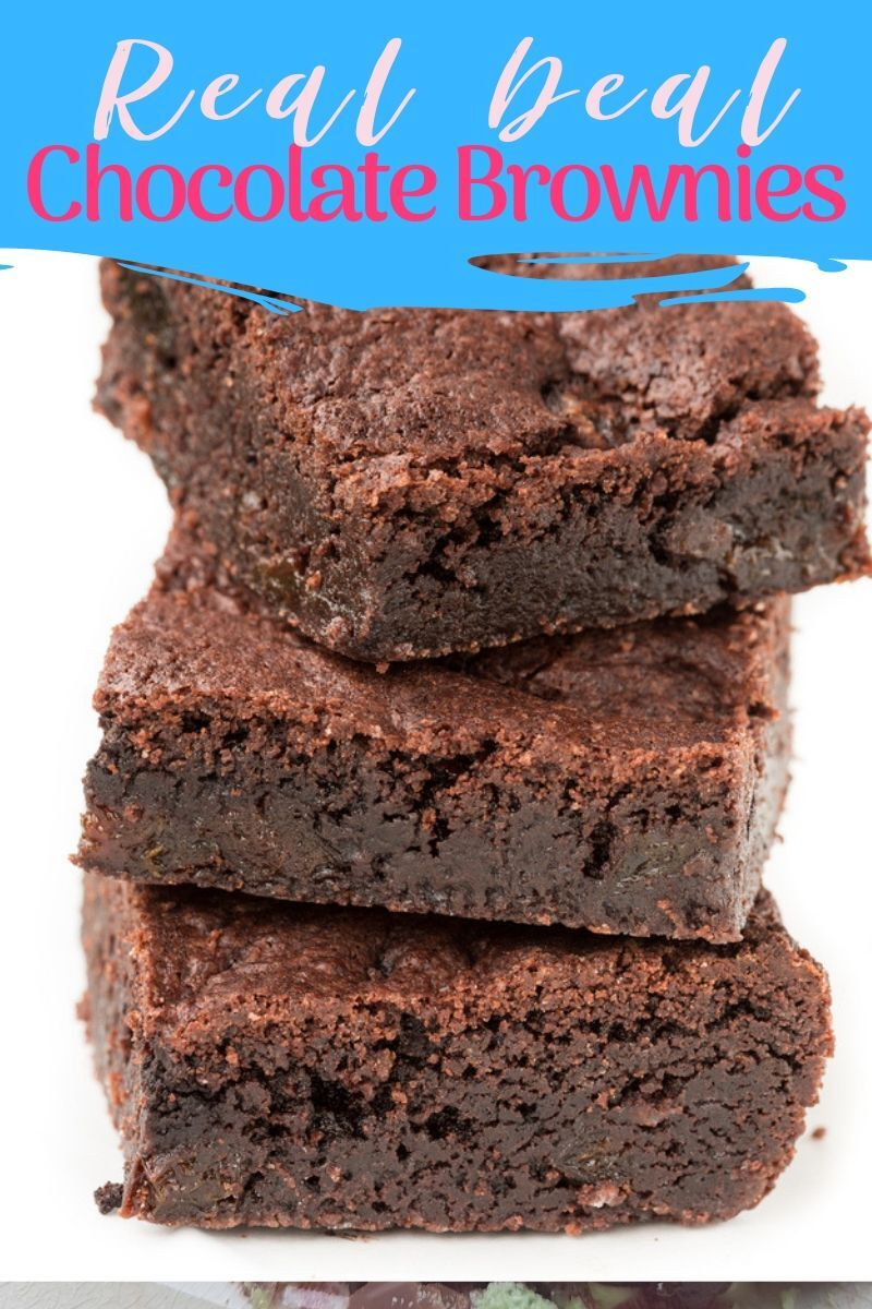 pin for 'Real deal chocolate brownies'