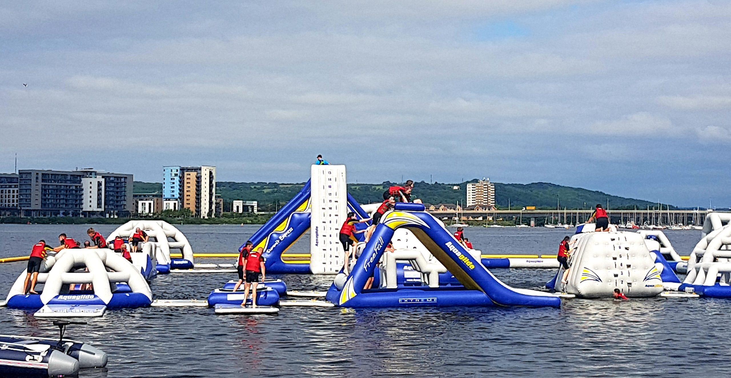 Fun at Aqua Park Cardiff