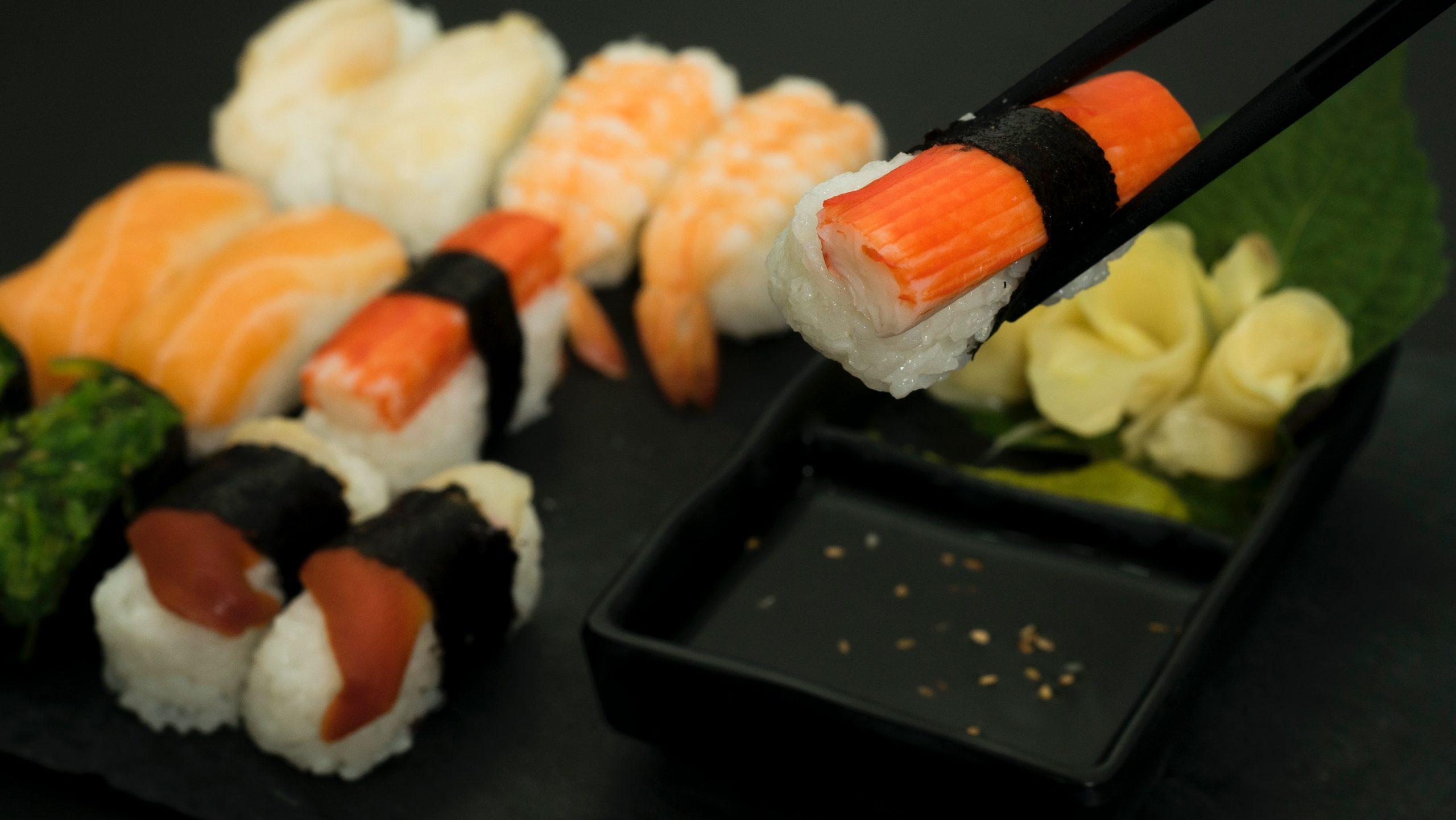 Shopping at Lidl sushi