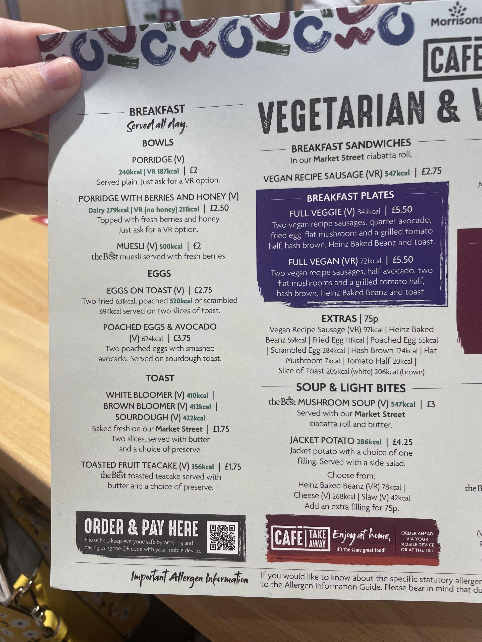 Morrisons breakfast deals